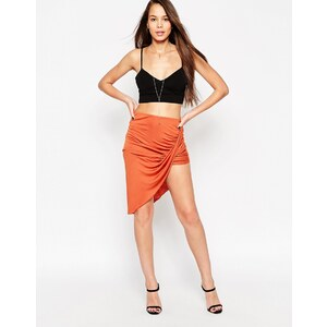 ASOS - Jupe-culotte portefeuille sexy - Tabac