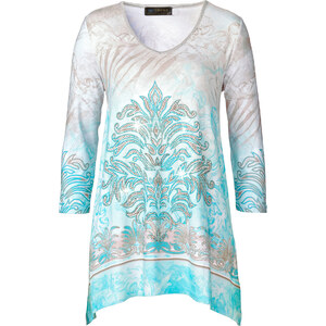 bpc selection Shirt-Tunika 3/4 Arm in blau für Damen von bonprix