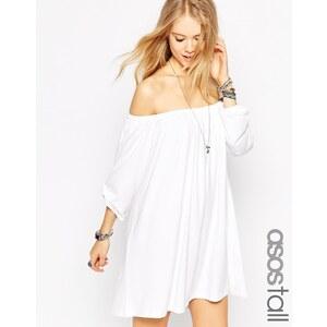 ASOS - TALL - Ausgestelltes Kleid mit schulterfreiem Design