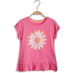 Esprit T-shirt à fleur, 100 % coton
