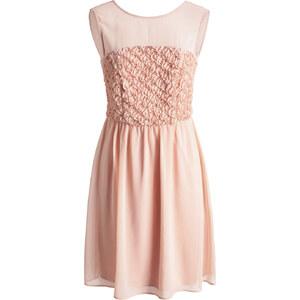 Esprit Fine robe en mousseline, bustier fleuri