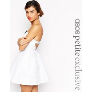 ASOS PETITE - Trägerloses Kleid mit Stickereidetail - Weiß