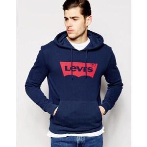 Levis Levi's - Sweat à capuche avec logo chauve-souris - Bleu
