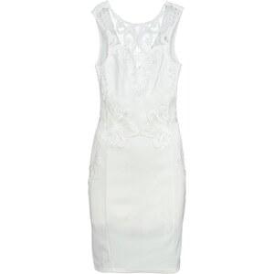 Lipsy Jerseykleid white