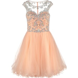 Luxuar Fashion Cocktailkleid / festliches Kleid apricot