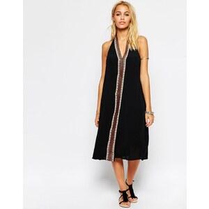 ASOS - Mittellanges weites Kleid mit Kontrastbesatz