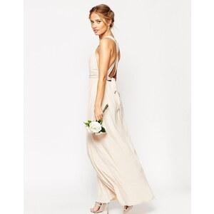 ASOS WEDDING - Maxi robe froncée à bretelles doubles - Vert
