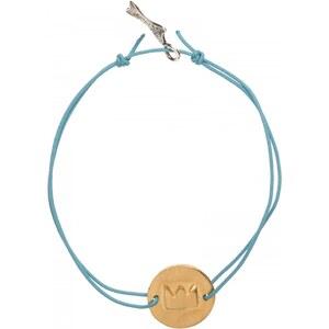 Krouk madame BRACELET Cordon Talisman - dore turquoise