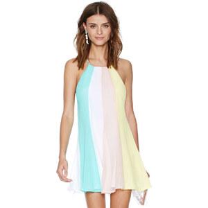 Lesara Damen-Kurzkleid im rückenfreien Design - Mehrfarbig - S