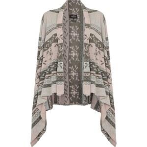 REVIEW Cardigan mit eingestricktem floralen Muster