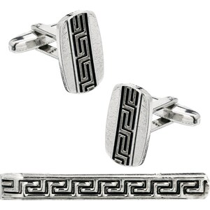 ASOS Cufflinks & Tie Clip Set With Engraving