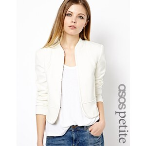ASOS PETITE Exclusive Embroidered Back Seam Detail Jacket