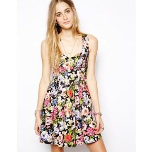 Band of Gypsies – Gesmoktes Kleid mit leuchtendem Blumendruck