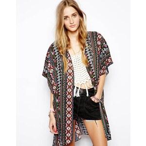Band Of Gypsies – Lange Kimonojacke mit Aztekenmuster