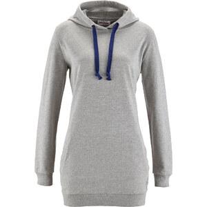 John Baner JEANSWEAR Sweat-shirt long gris manches longues femme - bonprix