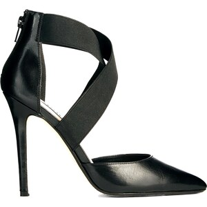 Dune Demie Black Pointed Strappy Court Shoes
