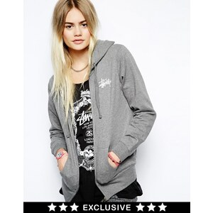 Stussy Zip Up Hoodie With Back Logo Exclusive To ASOS