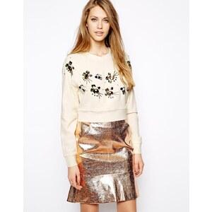 Three Floor Surprise Embellished Sweatshirt