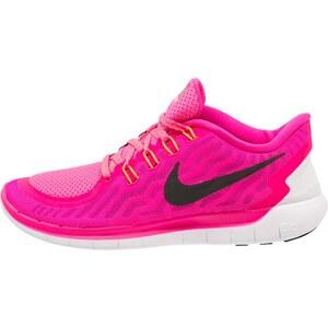 Nike Performance FREE 5.0 Sneaker low pink foil/black/pink pow/bright citrus