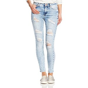 Noisy May Damen Super Skinny Jeans NMLUCY NW Super Slim Ankle Jeans BA858