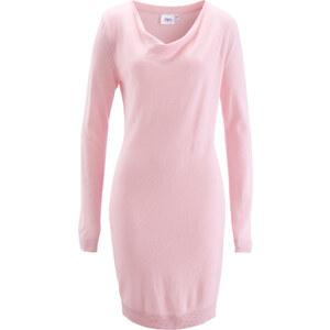 bpc bonprix collection Strickkleid mit Wasserfallkragen langarm in rosa von bonprix
