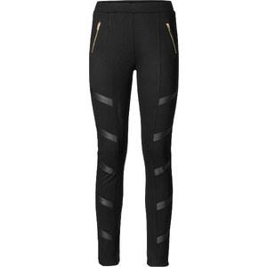 RAINBOW Leggings mit Lederimitatapplikationen in schwarz für Damen von bonprix