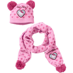 """Bonnet + l""""écharpe HELLO KITTY (Ens. 2 pces.) rose enfant - bonprix"""