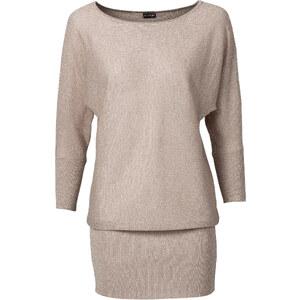 BODYFLIRT Lurex-Pullover in beige für Damen von bonprix