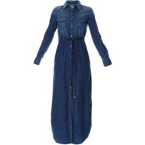 Diesel DE-VIVY-LONG - Robe chemise - denim bleu