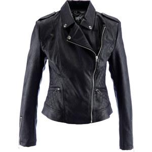 bpc bonprix collection Veste en synthétique imitation cuir noir manches longues femme - bonprix