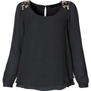BODYFLIRT Chiffon-Bluse in schwarz von bonprix