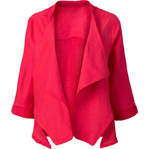 RAINBOW Jacke mit Leinenanteil 3/4 Arm in pink für Damen von bonprix