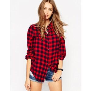 ASOS - Boyfriend-Hemd mit rotem Karomuster - Mehrfarbig