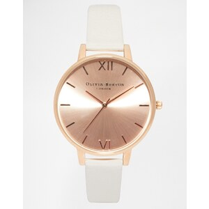 Olivia Burton - OB13BD11 - Roségoldene Armbanduhr mit großem Zifferblatt - Cremeweiß