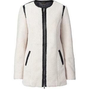 RAINBOW Manteau court en fourrure peluche blanc manches longues femme - bonprix