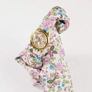 Lesara Damen-Uhr mit Seiden-Armband