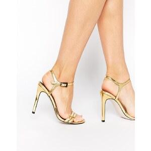 ASOS - HAPHAZARD - Sandalen mit Absatz - Gold