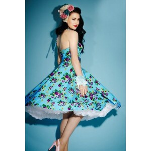 Bunny 50s Retro halter May Day swing dress