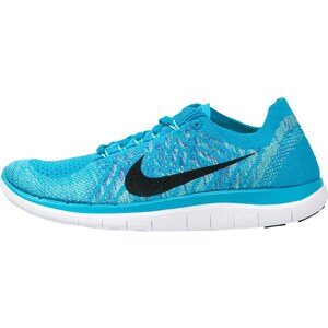 Nike Performance FREE 4.0 FLYKNIT Laufschuhe Natural Running blue lagoon/black/game royal