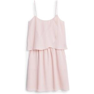 MANGO Strukturiertes Kleid, Volantsaum