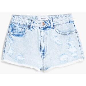 MANGO Short Denim Taille Haute
