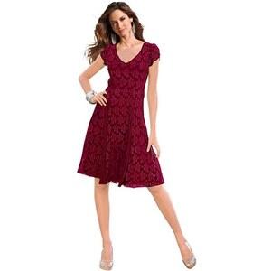Damen Kleid mit Georgette-Einsätzen TOGETHER rot 40,42,44,46,48,50,52