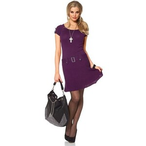 Damen Strickkleid Melrose lila 34,38,40,42