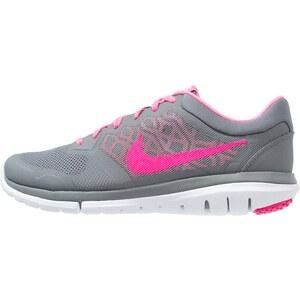 Nike Performance FLEX 2015 RUN Laufschuh Leichtigkeit cool grey/pink pow/white