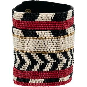 ASOS Seed Bead Stripe Cuff Bracelet