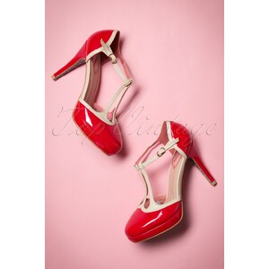 Dancing Days by Banned 50s Betty Pumps in Red