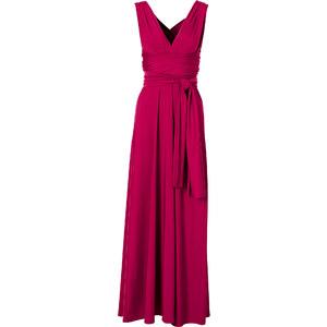 BODYFLIRT boutique Kleid ohne Ärmel in pink (V-Ausschnitt) von bonprix