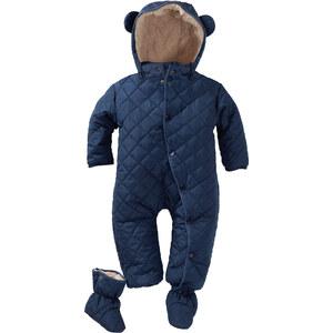 bpc bonprix collection Combinaison de ski bébé avec pieds (Ens. 2 pces.) bleu manches longues enfant - bonprix