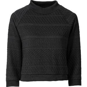 BODYFLIRT Top aspect tricot noir femme - bonprix