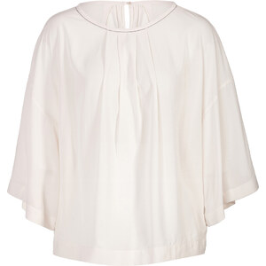 Brunello Cucinelli Silk Pleated Top